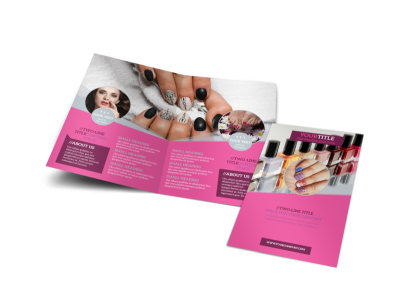 Fashion Nail Salon Bi-Fold Brochure Template