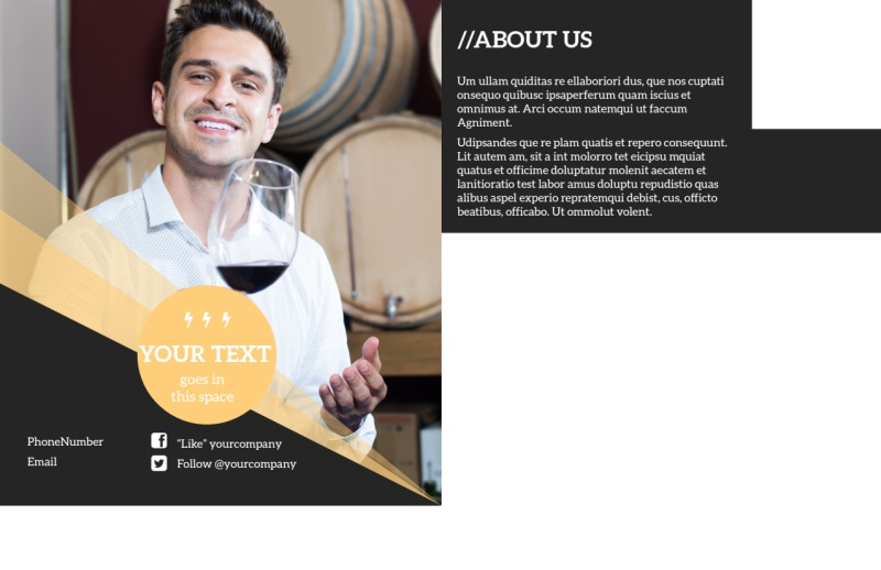 Wine Tour Postcard Template Preview 3