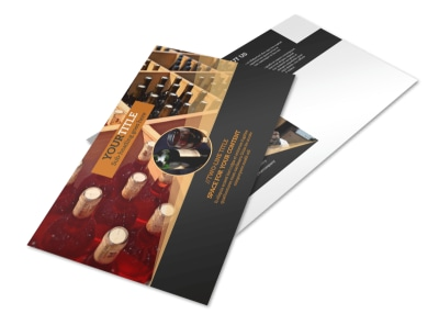 Wine Tour Postcard Template preview
