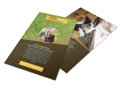 Obedience Classes Flyer Template 3