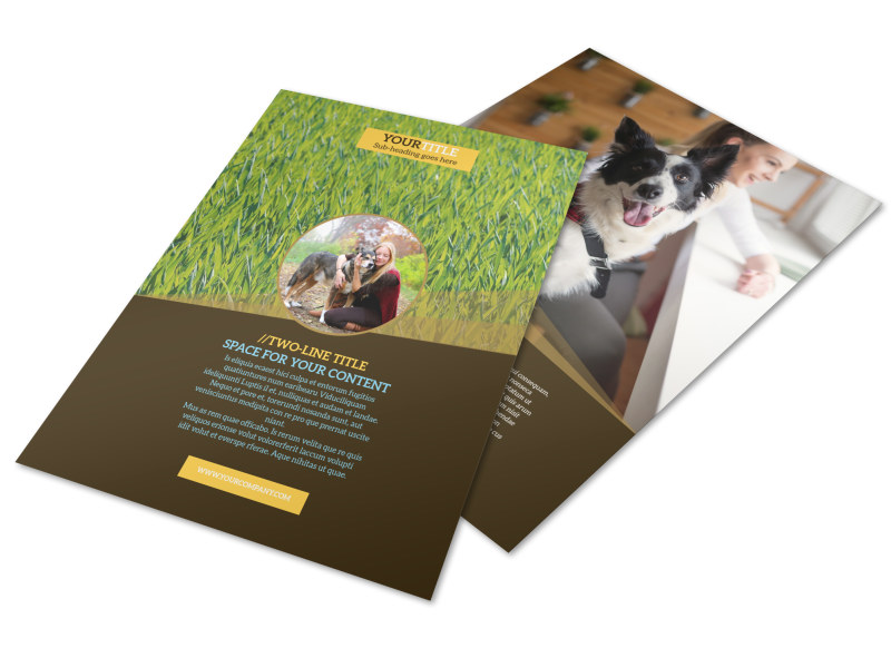 Obedience Classes Flyer Template