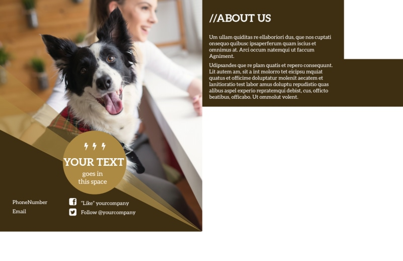 Obedience Classes Postcard Template Preview 3