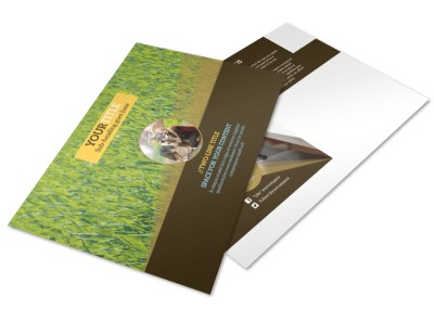 Obedience Classes Postcard Template preview