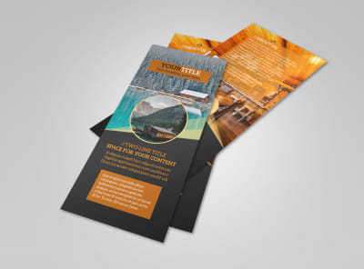 Lake Front Resort Flyer Template 2