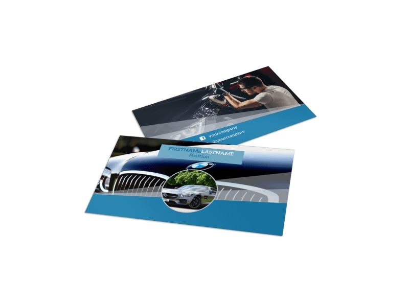 Auto Detailing Business Card Template