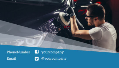 Auto Detailing Business Card Template Preview 2