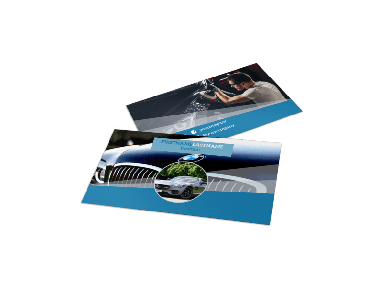 Auto Detailing Business Card Template Preview 1
