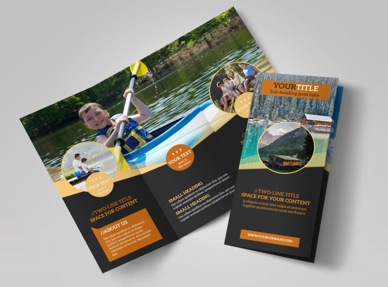 Lake Front Resort Brochure Template Preview 4
