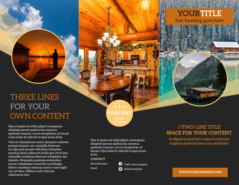 Lake Front Resort Brochure Template Preview 2