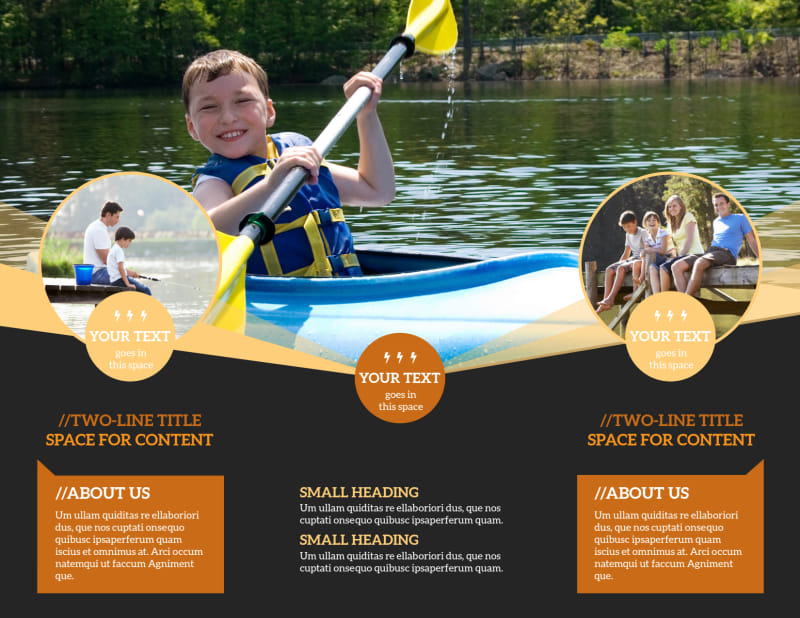 Lake Front Resort Brochure Template Preview 3