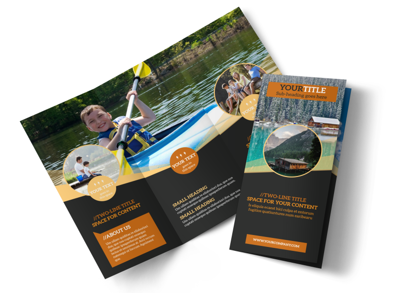 Lake Front Resort Brochure Template Preview 1