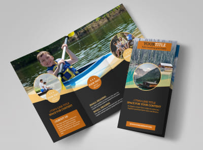 Lake Front Resort Tri-Fold Brochure Template preview