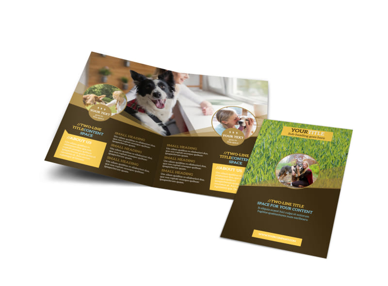 Obedience Classes Bi-Fold Brochure Template