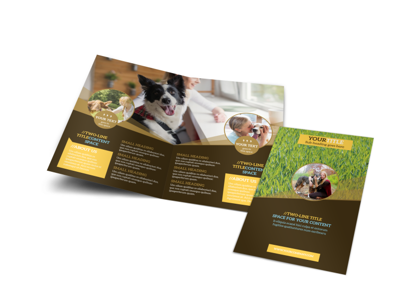 Obedience Classes Brochure Template Preview 1