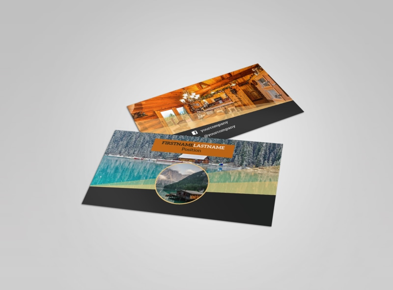 Lake Front Resort Business Card Template
