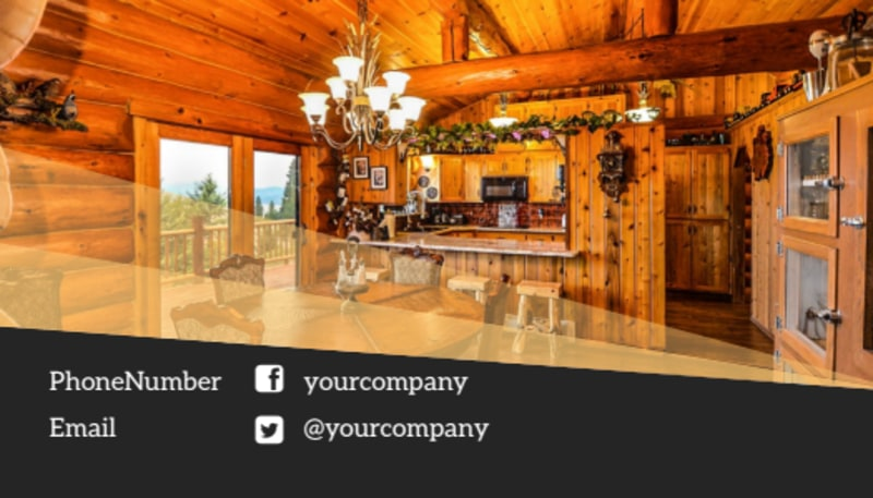 Lake Front Resort Business Card Template Preview 3