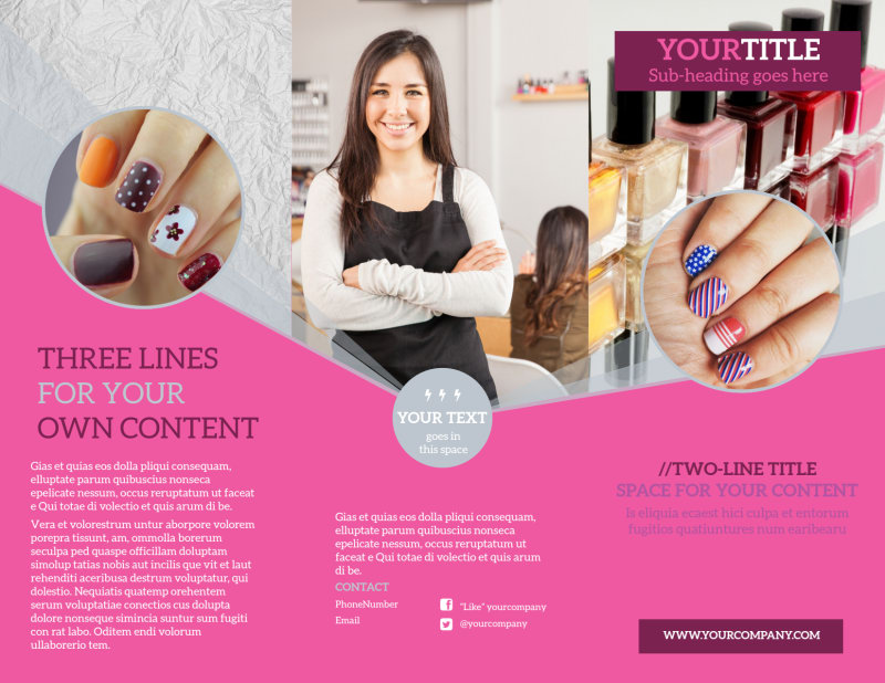 Fashion Nail Salon Brochure Template Preview 2