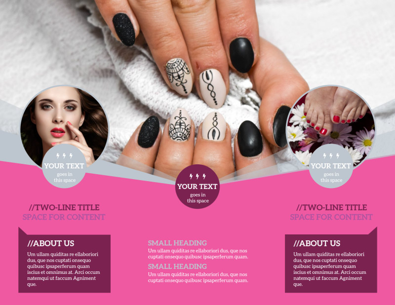Fashion Nail Salon Brochure Template Preview 3