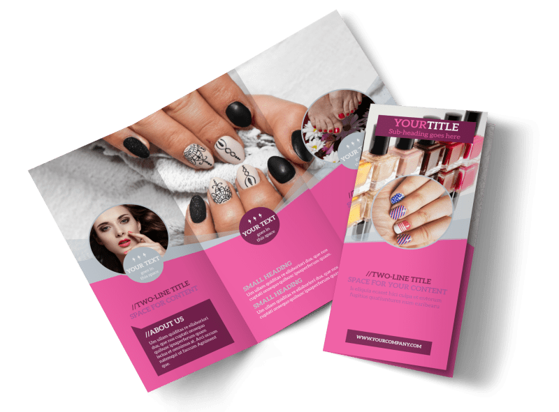 Fashion Nail Salon Brochure Template Preview 1