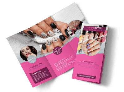 Fashion Nail Salon Tri-Fold Brochure Template preview