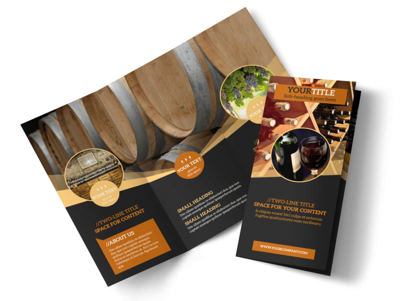 Wine Tour Tri-Fold Brochure Template