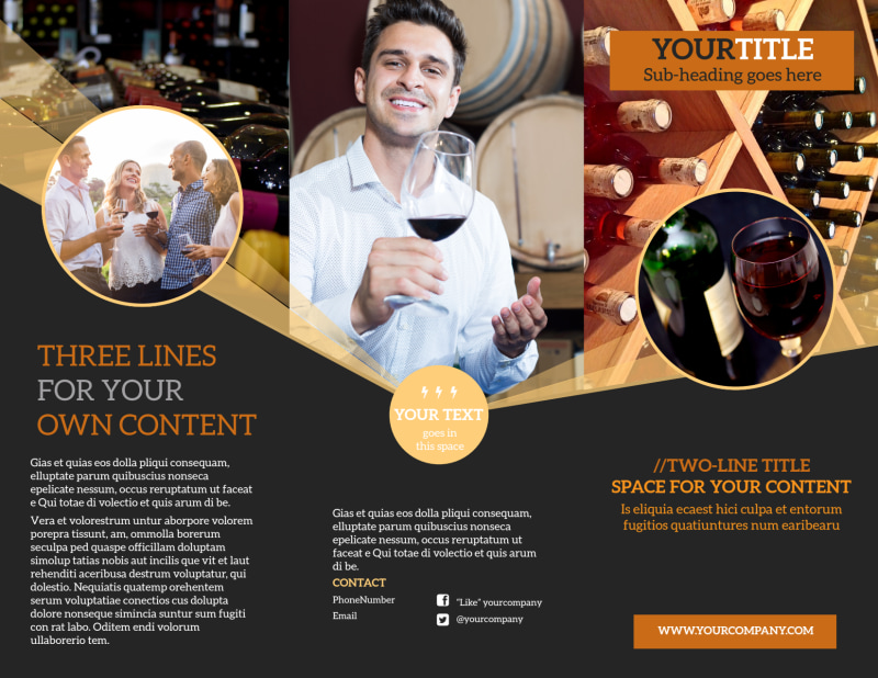 Wine Tour Brochure Template Preview 2