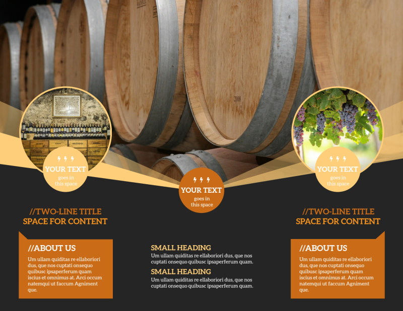 Wine Tour Brochure Template Preview 3