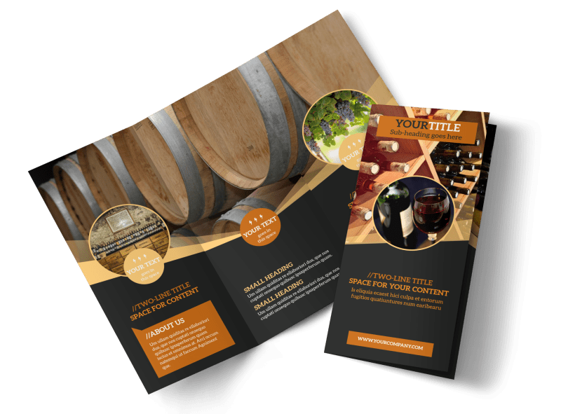 Wine Tour Brochure Template Preview 1