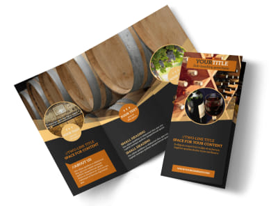 Wine Tour Tri-Fold Brochure Template preview