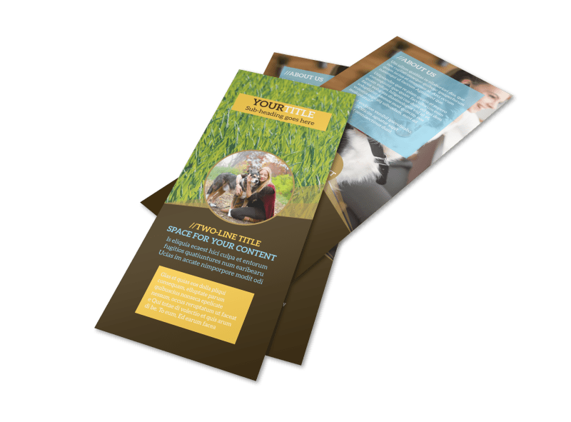 Obedience Classes Flyer Template Preview 1