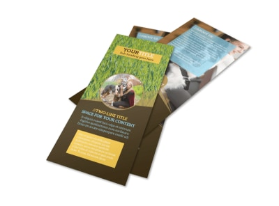 Obedience Classes Flyer Template 2