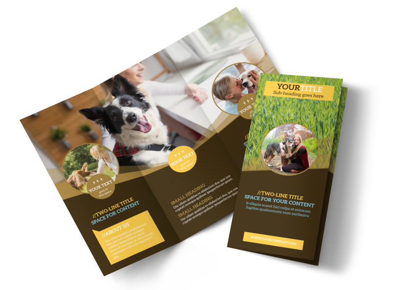 Obedience Classes Brochure Template Preview 4