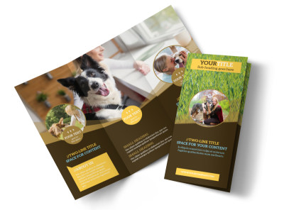 Obedience Classes Tri-Fold Brochure Template preview