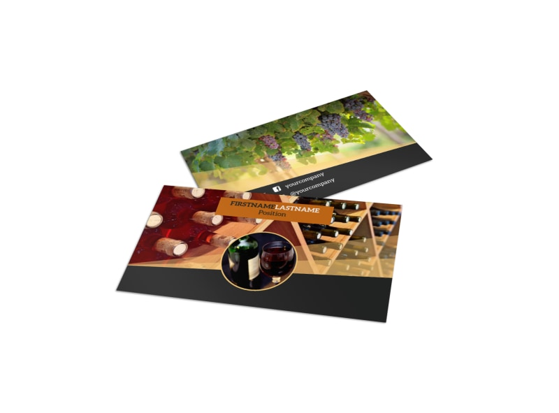 Wine Tour Business Card Template