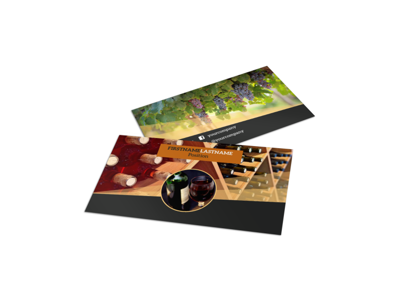 Wine Tour Business Card Template Preview 1