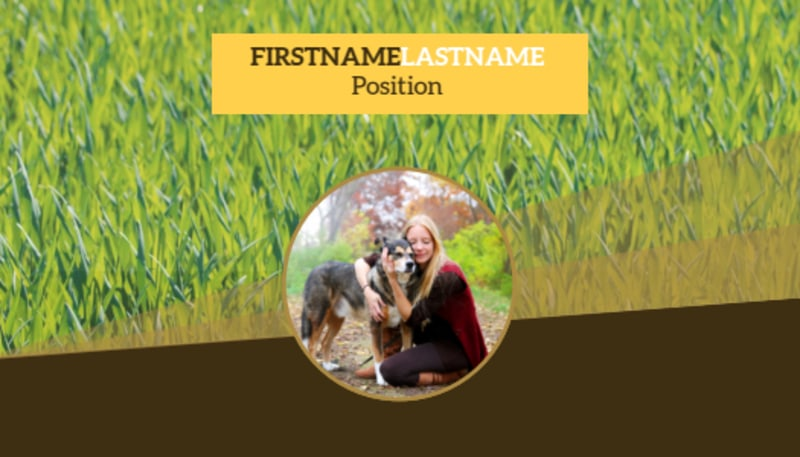 Obedience Classes Business Card Template Preview 2