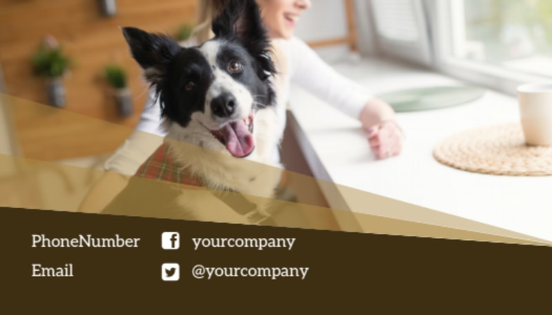 Obedience Classes Business Card Template Preview 3