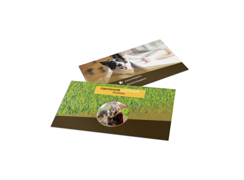 Obedience Classes Business Card Template Preview 1