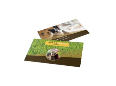 Obedience Classes Business Card Template preview