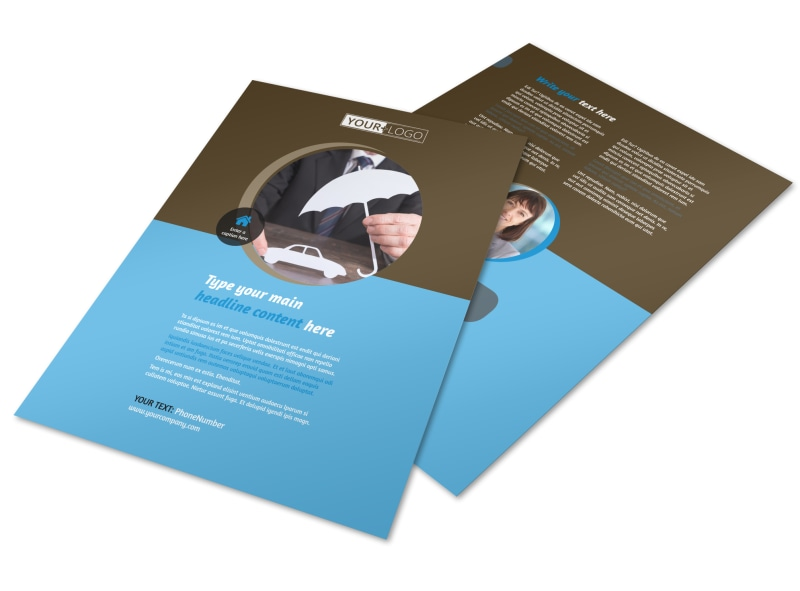 Car Insurance Company Flyer Template