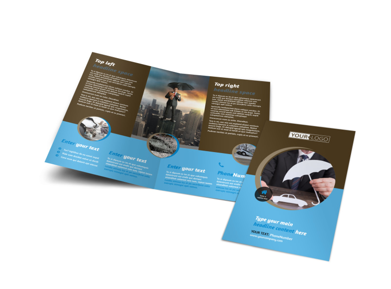 reliable auto insurance brochure template