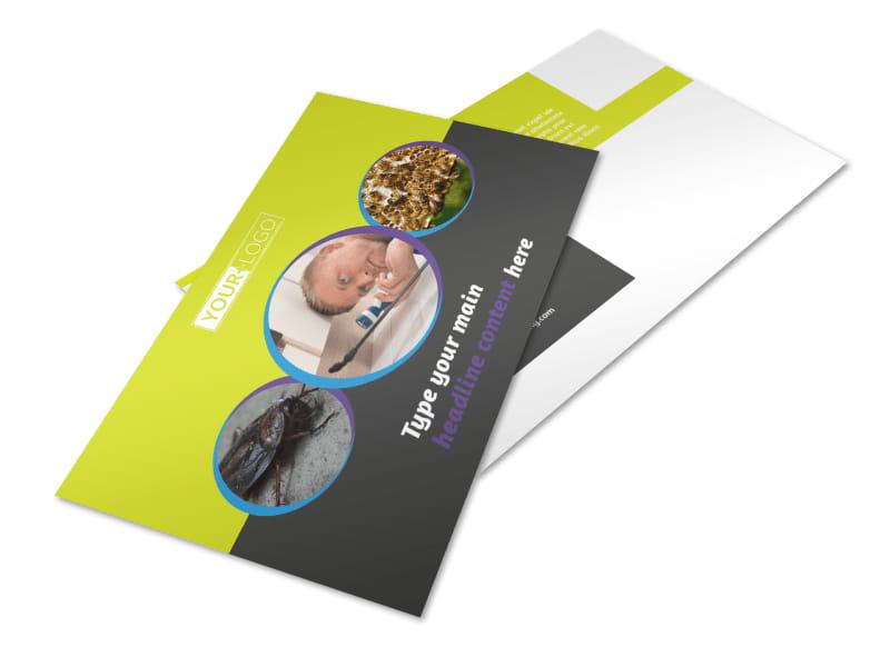Pest Control Services Postcard Template 2