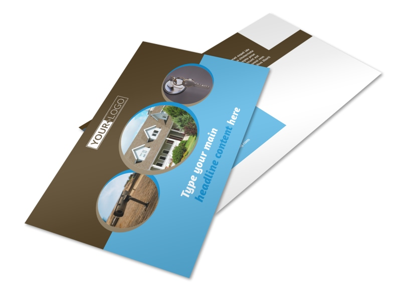 Home Security Installation Postcard Template 2