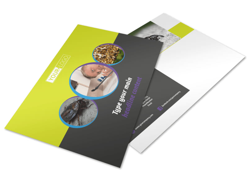 Pest Control Postcard Template Preview 4