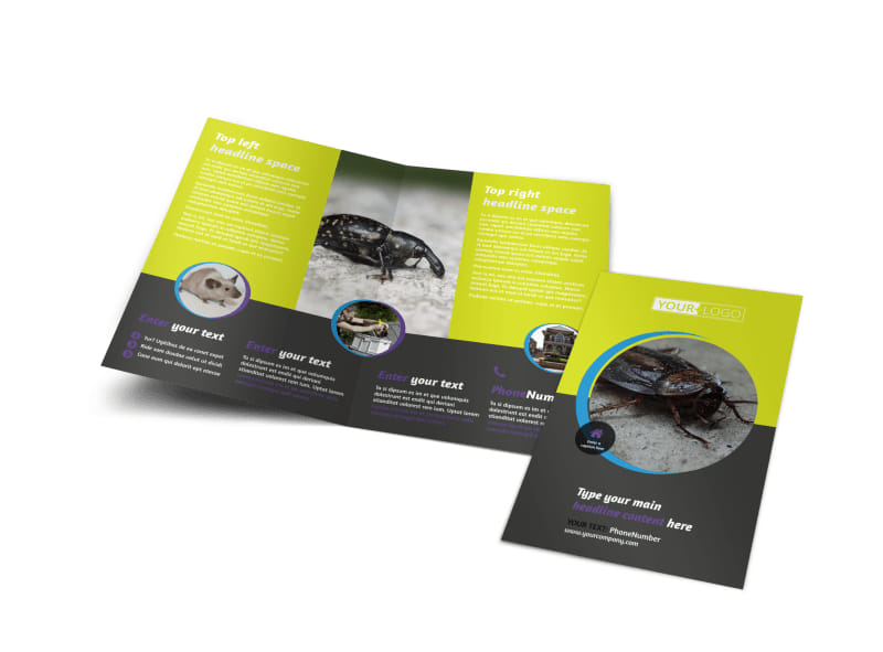 Pest Control Brochure Template MyCreativeShop