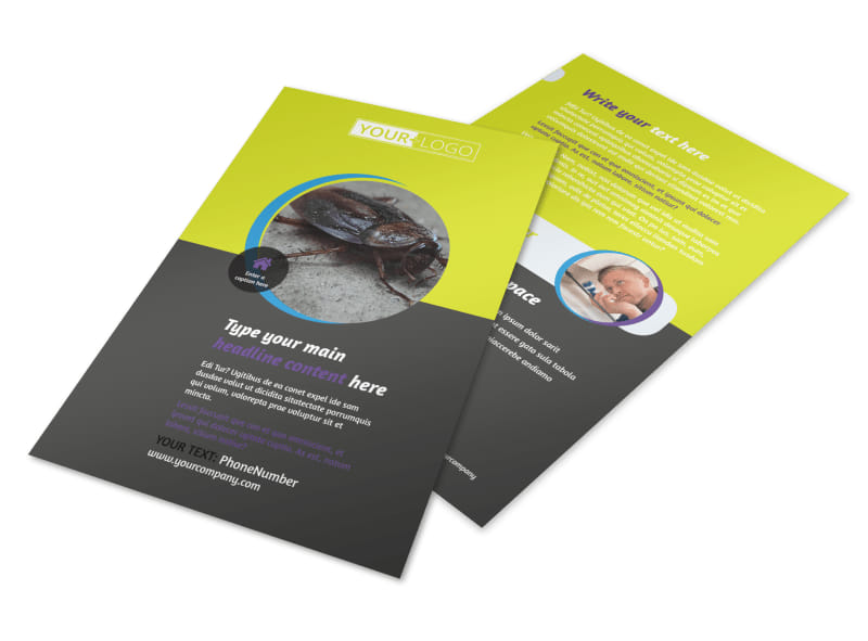pest control services flyer template. Black Bedroom Furniture Sets. Home Design Ideas