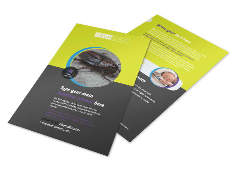 Pest Control Flyer Template Preview 1