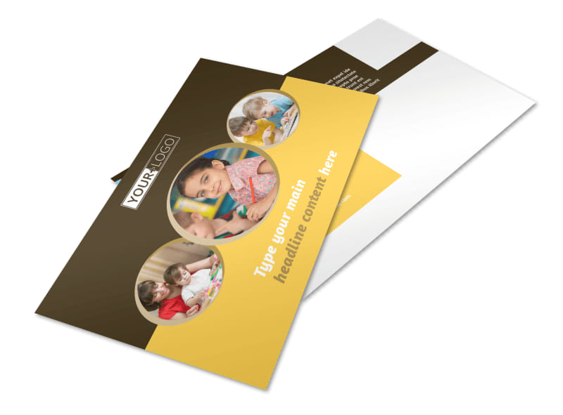 Learning Center Postcard Template 2