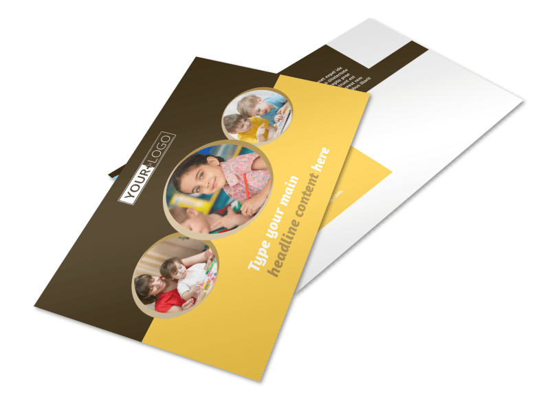Learning Center Postcard Template Preview 1
