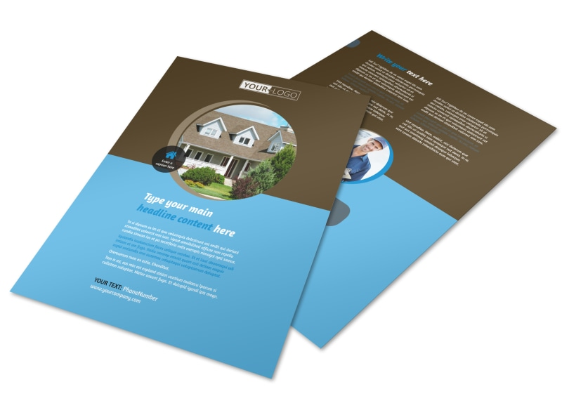 Home Security Installation Flyer Template MyCreativeShop - A5 brochure template